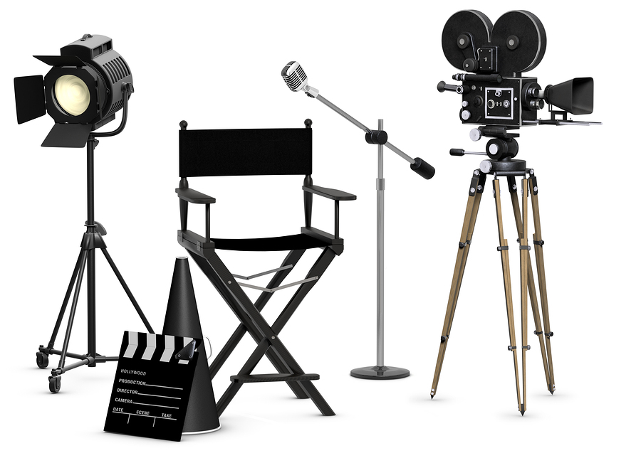 photo of vintage movie equipment