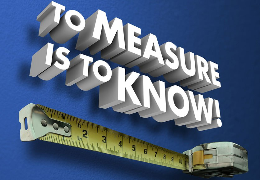 photo with measuring tape and text to measure is to know